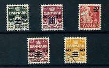 Faroe Island Stamps Scott # 2-6 Complete Set Used SUPERB Cat. Val. $507.50 (S58)