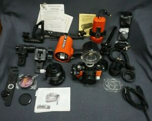 + Nikon NIKONOS V Underwater Camera + UW NIKKOR 128 f15mm + Strobe + Accessories