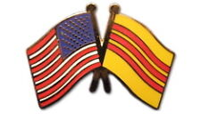 South Vietnam Friendship with US Flag Lapel Badge Pin