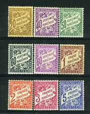 1926-43 MONACO TIMBRES TAXE YVERT ET TELLIER N°18-26 xx