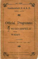 HUDDERSFIELD v WIGAN 23 Jan 1915 RUGBY LEAGUE PROGRAMME 'TEAM OF ALL TALENTS'