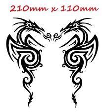 COPPIA di draghi tribali tattoo GLOSS Vinile Auto Adesivo Auto Decalcomania SCOOTER GRAPHIC