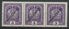 Austria 1918 Sc# 181 Crown  issue of the Republic strip 3 MNH