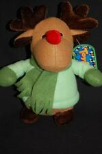 "Red Nose Reindeer Green Scarf Gloves 2007 Coinstar NWT 8"" Sugar Loaf Stuffed Toy"