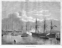 SHIPS HISTORY, OLD STYLE AND NEW, SAILORS ROWING PRINT