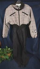 Black Gray & White Windowpane Plaid NILS Stirrup Snowsuit 10