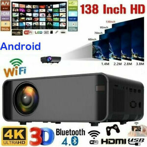 18000Lumen 1080P 3D LED 4K Android Wifi Video Home Theater Projector Cinema HDMI