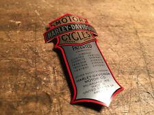 Harley Springer Fourche brevet emblème logo Parrain caractères Head