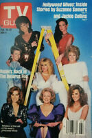 TV Guide Magazine Feb 1985 Kojak Cast of Hollywood Wives Suzanne Somers NoML VG