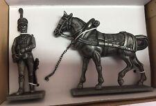 Caballo y soldado Grand Armée Napoleon 56 mm Figura soldado plomo Atlas 7426 010