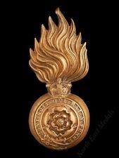 Royal Fusiliers Raccoon Skin Hat Large Cap Badge