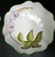 Present Tense Home Artistry orchid Serving Bowl Italy Kitchen Decor Ceramic