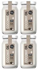 4 X Organic 100 % pure raw coconut oil 350ml Cold-pressed Virgin Unrefined