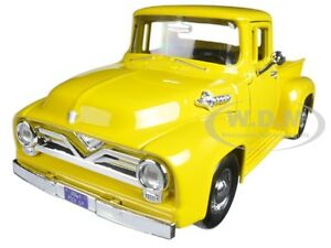 1955 FORD F-100 PICKUP TRUCK YELLOW 1/24 DIECAST MODEL CAR BY MOTORMAX 79341
