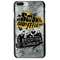 5 Seconds Of Summer Pin Heart Black Sounds TPU Case Cover For iPhone 6S 7 Plus X