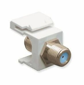Snap In Keystone Module Jack F Type Female to Female Connector White