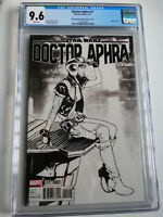 Star Wars Doctor Aphra #1 Pichelli Black & White Variant Cover Comic CGC 9.6