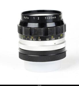 Lens Nikkor-0 Auto 2/35mm for Nikon F