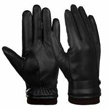 Leather Touch Screen Gloves Men Winter Warm Thick Warm Cycling Ski Everyday Driv