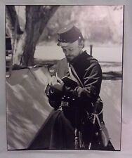16X20 Original B&W Print Photograph Matted Union Soldier Interior Signed US