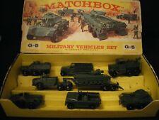MATCHBOX RARE G-5 MILITARY SET COMPLETE  WITH  ORIGINAL BOX