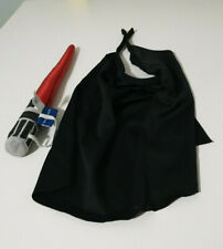 BUIILD A BEAR ACCESSORIES DARTH VADER CAPE AND LIGHTSABER BAB