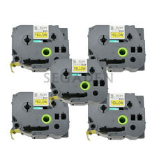5pk Black on Yellow Label Tape Fit for Brother PTouch TZ TZe S661 36mm