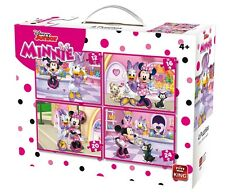 4 IN 1 CHILDRENS DISNEY JUNIOR MINNIE MOUSE & DAISY DUCK  JIGSAW PUZZLE 05254