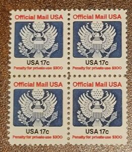 Scott#: O130 - Official Mail Block of Four MNH OG