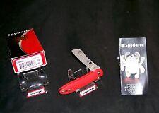 Spyderco C189PRD Roadie Knife N690Co Blade Maniago, Italy W/Packaging, Booklet