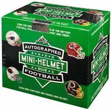 New England Patriots -  (3) 2019 Leaf Autographed Mini Helmet - 3 Box Break