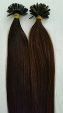 "U-Tip  Finest European Remy Pre-Bonded Hair Extensions 100 Strands 22"" Color #2"