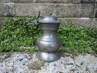 Rare antique 18th century pewter tankard with touch marks
