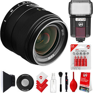 Oshiro 35mm f/2 Wide Angle Lens for Sony E-Mount FE Cameras & Universal Flash