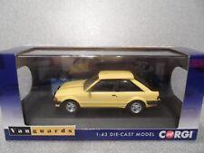 Corgi Vanguards 1:43  VA11011  FORD  ESCORT Mk 3 XR3  Yellow   mint boxed