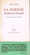 La SCIENCE du BIEN et du MAL Dédicacé de Marcel LOBET à Marianne STOUMON 1954 N°