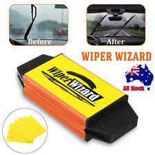 Car Van Wiper Wizard Windshield Wiper Blade Restorer Cleaner w/ 5 Wizard Clothes