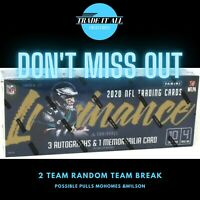 2020 Panini Luminance NFL Football Two Team Hobby Box - Random Team LIVE BREAK-1