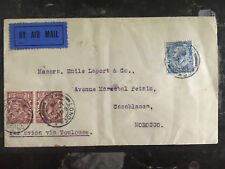1924 England First Flight Cover via Imperial Airways to Casablanca Morocco Ffc
