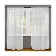 DII Elegant Decorative Sheer Curtain Panels Window Treatments o... Free Shipping