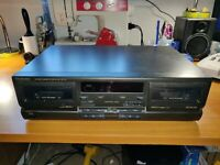 Technics RS-TR170 Stereo Dual Cassette Deck Player Rec with Cables