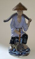 Chinese vintage Victorian oriental antique large farmer figurine