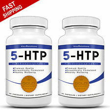 5-HTP - 120 Capsules - Anti-Depressant Mood Sleep Support - Stress Relief - 5HTP