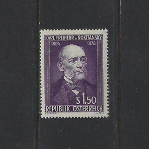 AUSTRIA - #592 - Dr. KARL von ROKITANSKY, PHYSICIAN MINT STAMP (1954) MLH