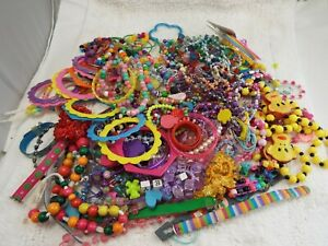 Colorful Kid's Bracelet, Necklaces, Beads & Craft Jewelry Lot (KD1)