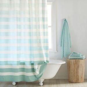 "DKNY highline stripe 72"" shower curtain aqua"