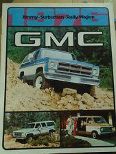 GMC Jimmy Surburban Rally Wagon brochure 1976 Canadian market