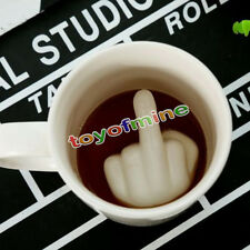 3D Middle Finger Coffee Cup Up Yours Mug Hidden Middle Finger Ceramic Mug Gift