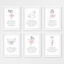 Ballerina Baby Nursery Quote Prints Childrens Bedroom Art Pictures Decor Girl