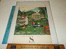 Rare Original VTG 1957 A Northerner's View of the South Scenic Color Art Print